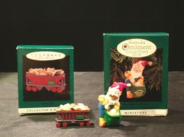 Hallmark Handcrafted Ornaments AA-191774B Collectible  ( 2 pieces ) - $29.95