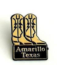 VTG Collectible Lapel Pin - Amarillo Texas Souvenir Plastic Western Cowb... - $7.80