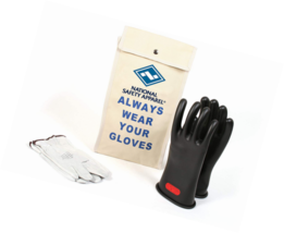 National Safety Apparel Class 0 Black Rubber Voltage Insulating Glove Ki... - $201.96