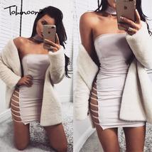 Tobinoone sexy women dress 2018 Elegant evening party summer dress vestidos Autu - $37.17