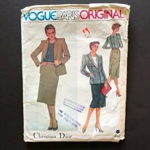 Christian Dior Misses Suit Pattern Vogue 2405 Paris Original Size 10 Uncut - $9.89