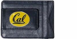 cal bears uc berkeley oval logo ncaa college emblem leather cash cardholder - $27.07