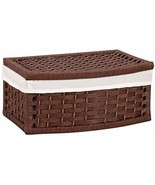Household Essentials Hand-Woven Paper Rope Basket with Lid and Liner, Da... - $46.89