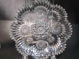 American Brilliant Period hand Cut Glass plate Antique gift - $83.22