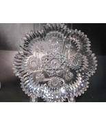 American Brilliant Period hand Cut Glass plate Antique gift - $88.83