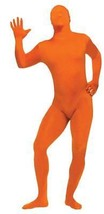 Skin Suit Costume Orange Jumpsuit Adult Men Women Halloween Plus Size FW... - €39,45 EUR