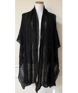 NWT Modena Black Woven Triangle Blanket Scarf Shawl Wrap One Size OS - $19.99