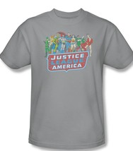 Batman superman wonder woman the flash superhero s for sale online gray graphic t shirt thumb200