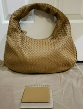 100% Authentic Bottega Veneta Small Veneta Bag in Camel Leather.  Pristine! - $1,053.47