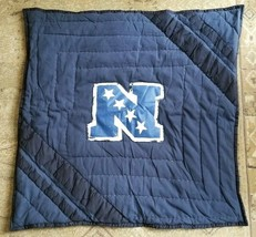 Pottery Barn Nfl Football Logo Quilted Pillow Sham Euro 26x26 Nwot #73 - $18.00