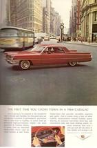 1964 Cadillac Car Automobile Flatiron NYC Print Advertisement Ad Vintage VTG 60s - $9.69