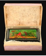 RUSSIAN PAPER MACHE HP LACQUER BOX MSTYERA SCHOOL THE BEAR HUNT FORREST ... - $125.99