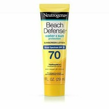 Neutrogena Beach Defense Sunscreen Lotion SPF 70, 3 Pack 1 oz - $7.91