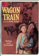 Wagon Train #895 1958-DELL-1ST ISSUE-WARD BOND-FOUR COLOR-TV SERIES-vg - $47.92