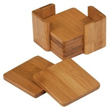 "Square Bamboo Coaster Set - 3.75"" - $16.80"