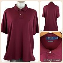 POLO RALPH LAUREN Pima Soft Touch Cotton Short Sleeve Shirt Men's XL Wine - $40.00