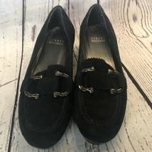 NWOT Stuart Weitzman suede wedge buckle loafers - $54.45