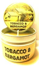 Tobacco & Bergamot 4oz All Natural Tin Soy Candle, Take It Any Where - C... - €5,24 EUR