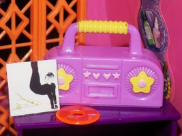 Purple Star stereo boombox radio cd lt fits Fisher Price loving family dollhouse - $5.93