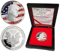 President Donald Trump 2016 Silver Challenge Coins With Gift Box - $35.41
