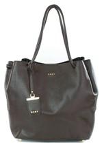 DKNY Shoulder Shopper Tote Bag Dark Brown Leather Medium Handbag RRP £315 - $163.59