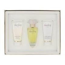 Estee Lauder Dazzling Gold Perfume 2.5 Oz Eau De Parfum Spray 3 Pcs Gift Set image 1