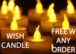 FREE W ANY ORDER THROUGH OCT 31 FLAMELESS 33X WISHING CANDLE RARE MAGICK - Freebie