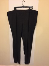 Womens Stretch Slacks Pants Lane Bryant Gray 26 28 EUC - $25.24