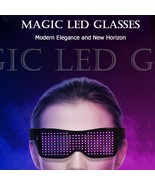 Luminous Glasses Led Flashing Neon Glasses Glowing Sunglasses USB Blueto... - $21.70