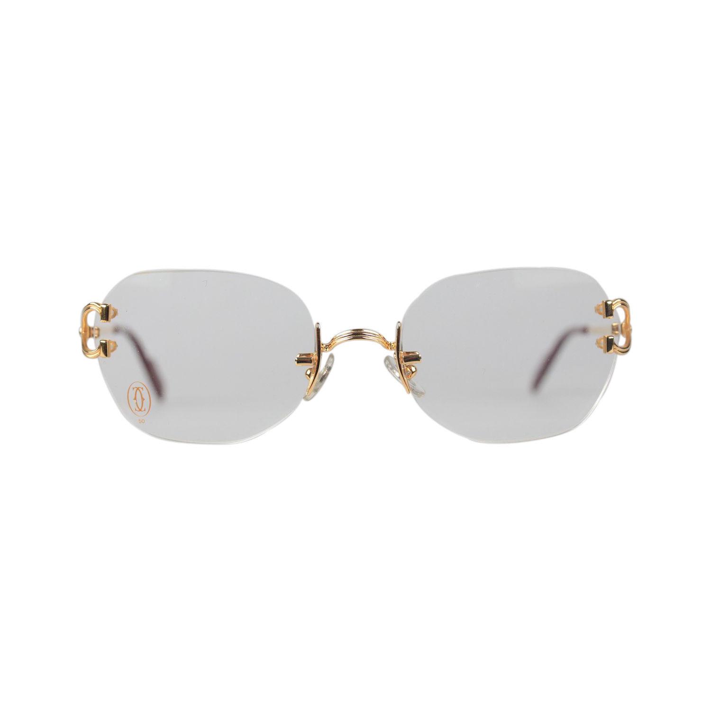 e4cab11e90 S l1600. S l1600. Previous. Authentic CARTIER Paris Vintage Gold Rimless  Eyeglasses CHELSEA New Old Stock