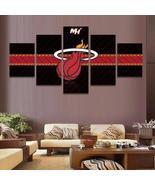 Miami Heat Canvas Wall Art Canvas 5 Piece Framed NBA Miami Heat Paintin... - $74.99+