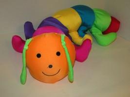 Goffa colorful Microbead plush caterpillar stuffed animal pillow bright colorful - $19.79