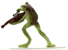 Hagen-Renaker Specialties Froggie Mountain Breakdown Bluegrass Frog Violin   image 6
