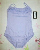 New Size 14 Fits 10-12 L Girls Bloch Lilac Cami Ruffle Leotard Dance Bal... - $15.49