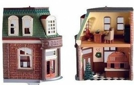 7 Hallmark Nostalgic Houses and Shops includes TOWN HALL MAYORS HOUSE NIB - $98.99