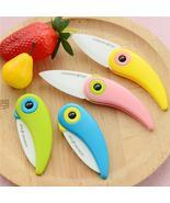 Ceramic Fruit Knife | Paring Knife | Bird Design Kitchen Colorful Paring... - $6.64 CAD