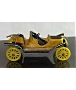 Vintage TootsieToy Classic Series Yellow Diecast Metal 1907 Stanley Stea... - $9.95