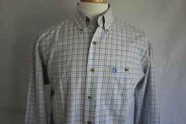 George Strait Wrangler Cowboy Cut Men's Long Sleeve Button Front Shirt S... - $19.79
