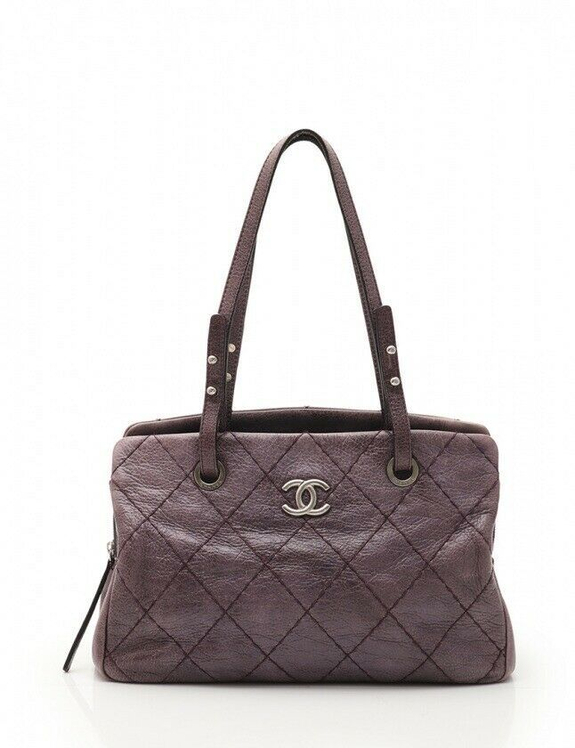 6a3a3d7e0c96 Chanel Tote Bag On the Road purple leather and 50 similar items