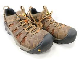 Keen Flint Low Size US 9 M (D) EU 42 Men's Steel Toe Work Shoes Brown 1007970 - $78.35