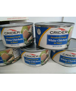 5 Crider Chicken 12.5oz cans fully cooked. Free Corn and Rice!  FAST SHIP - $10.59