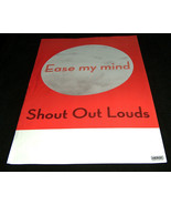 "Shout Out Louds Ease My Mind 17"" X 11"" Merge Records LP Vinyl Promo Musi... - $15.43"