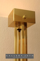 MONUMENTAL! MID CENTURY SONNEMAN BRASS TORCHIERE FLOOR LAMP! Art Deco Vt... - $1,500.00