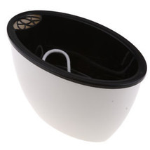 Durable Plastical Small Garden Home Self Watering Plant Flower Pot White - $4.50