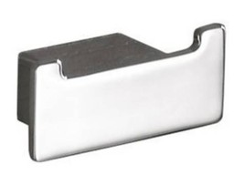 Gedy 5426 Lounge Wall Mounted Square Double Hook in Chrome Nameeks - $29.65