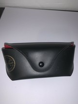Black Ray Ban Sunglasses Eyeglasses Case Button Closure Soft Interior Gold - $12.19
