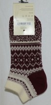 Simply Noelle Cream Maroon Blush Ankle Socks One Size Fits Most image 2