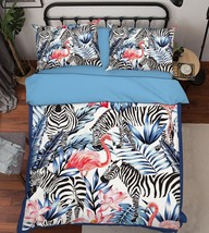 3D Birds Zebras Bed Pillowcases Quilt Duvet Cover Set Single Queen King Size AU - $64.32+
