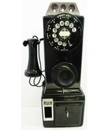 Automatic Electric Pay Telephone 3 Coin Slot 1930's Rotary Dial Operational - $1,395.00