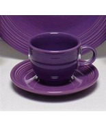 Set of 3~ FiestaWare Homer Laughlin Plum/Mulberry Cups and Saucers - $16.82